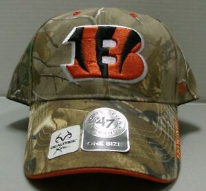 Cincinnati Bengals Camo Hat NFL Realtree Frost Xtra By 47 Brand Free Ship