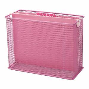 Mesh File Holder - Pink