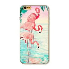 q. Flamingo Pattern Clear Soft TPU Silicone Back Case Cover For iphone 6 6S