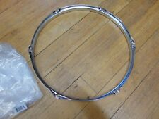 "New 1.6 Chrome Drum Hoop, 14""- 6  Hole/Lug, Tom / Snare Batter WW Shipping"