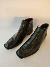 Response By Robert Wayne - Men's Zipper Ankle Boots Size 11M Leather Black