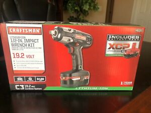 "Craftsman C3 1/2"" Heavy Duty Impact Wrench Kit 4Ah XCP Battery charger Included"
