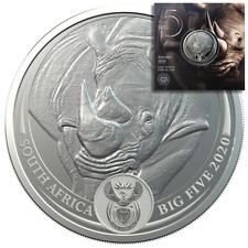 Südafrika - 5 Rand 2020 - Big Five Serie (3.) - Nashorn - 1 Oz Silber ST