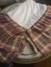 CHAPS Ralph Lauren, plaid,red,blue,gr,New,Bed skirt, $27Queen free ship, pretty