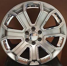 22 Rims & Tires Hyper Silver Wheels Fit GMC Yukon Denali Sierra Silverado LTZ