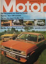 Motor magazine 6/7/1974 featuring Rover P6 road test, Broadspeed,dealer specials