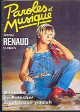 RENAUD PAROLES ET MUSIQUE  numéro 58 MARS 1986 Le Mensuel de la Chanson vivante