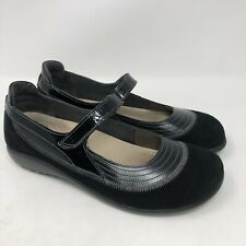 Naot Kirei Black Suede/ Leather Trim Mary Jane Comfort Shoes Sz 40 EU/ 9 US