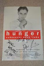 Dana Vavrova (+2009) & Kai wiesinger signed autógrafo póster hambre 80x60cm