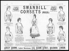 253d9a9b2f4 1890 Antique Print Advertisements - Swanbill Corsets Ladies Sloane Street  (15)