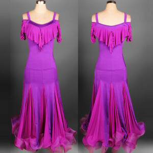 Latin salsa tango rumba Cha cha Ballroom Dance Dress Top & Skirt #F026 6 Colors