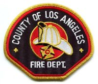 Los Angeles County Fire Department Patch California CA New Style v3