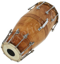 NAAL DRUM~HAND MADE INDIAN~MANGO WOOD~BOLT TUNED~DHOLAK~PAKHWAJ~DHO​L~YOG~MANTRA