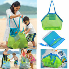 Portable Tote Hang Kids Toy Storage Summer Beach Net Shell Sand Collect Mesh Bag