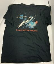 Babylon 5 Logo Xl Short Sleeve T Shirt 1994 The Last, Best Hope Babylon 5