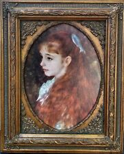 """LITHOGRAPH MAJESTICALLY FRAMED """"IRENE CAHEN d'ANVERS"""" by PIERRE AUGUSTE RENOIR"""