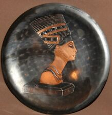 VINTAGE EGYPTIAN HAND MADE COPPER WALL DECOR PLAQUE NEFERTITI