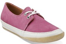 Clarks Original $110 Othello Bianca Womens US 7 Leather Fuschia Pink Shoe Sample