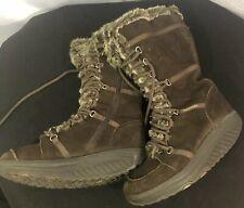 Skechers Sketchers Shape Ups Womens 7.5 Brown Faux Fur Boots SN 11812