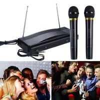 Costway Professional Wireless Microphone System Dual Handheld w/ 2 Mic Receiver
