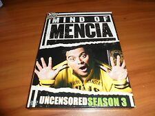 Mind of Mencia - Uncensored Season 3 (DVD, 2007, 2-Disc) Used 3rd Three Third