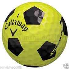 12 AAA Callaway Chrome Soft Yellow & Black Truvis Used Golf Balls (3A)