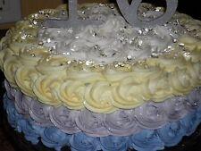 100 DEW DROP DIAMOND GEMS SUGAR ART ISOMALT-EDIBLE GEMS FOR YOUR CAKE LOT OF 100