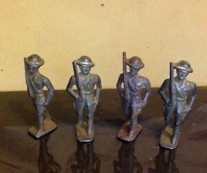 4 Antique Tin Die Cast Soldiers. WWI.