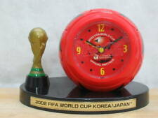 2002 FIFA World Cup table clock soccer ball type clock Coca-Cola with box