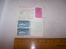 1968 California Sport Fishing License with Kokanee Salmon Stamps