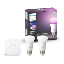 Philips Hue White and Color Ambiance A19 60W Equivalent LED Smart Light Bulb