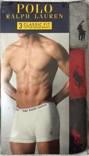 Polo Ralph Lauren 3-Classic Boxer Briefs X-Large 40-42 Gray / Red / Black (8279)