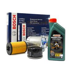 Kit tagliando FORD FOCUS III 1.6 tdci BOSCH + olio CASTROL