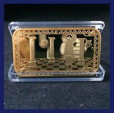 New Masonic Art Decoration Coin Bar Working Tools & Symbols Freemason Showpiece