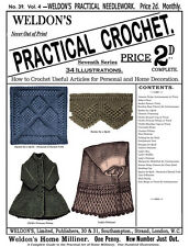 Weldon's 2D #39 c.1888 Practical Crochet How to Make Many Useful Vintage Items