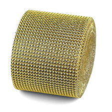 "4.75""x1 Yards DIAMOND MESH WRAP ROLL SPARKLE RHINESTONE Crystal Ribbon"