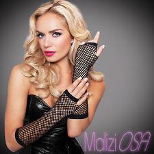 GUANTI Donna a Rete lunghi senza dita LEG AVENUE NERO Lingerie Fingerless Gloves