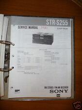Manual De Servicio SONY str-s255 receptor, original