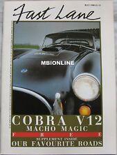 FAST LANE 05/1986 featuring Dax Cobra, Aston Martin Zagato, Ferrari Mondial