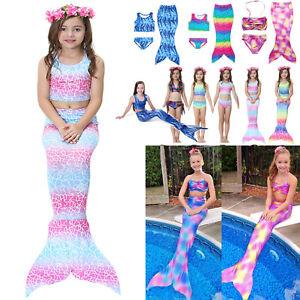 Baby Kid Girls Mermaid Tail Bikini Set Swimwear Beachwear Swimming Bathing Set