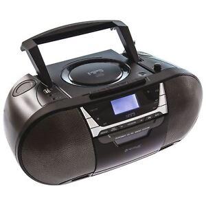 Portable CD FM Radio Tuner USB MP3 Cassette Music Recorder Player Stereo Boombox