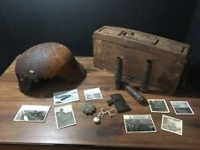 ww2 German Helmet Ammo Box Lot Russian Front Relics