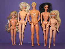 Mattel Barbie Dolls  -  Lot of 5 Barbies No Clothes