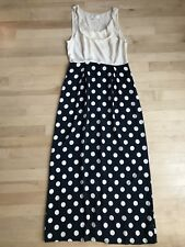 9a8a4ea0cc9e Anthropologie Moulinette Soeurs Women Maxi Dress Silk Sz 2 Polka Dot Skirt  Navy