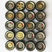 1/64 Scale Alloy Wheels with Brake Caliper, rubber tires
