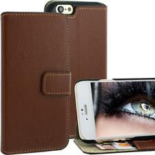 Blumax Leather Bag for Apple iPhone 6 Brown in Bookstyle, CARD BOX, LEATHER, NEW