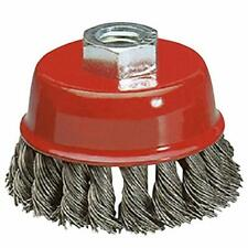 New listing Katzco Wire Wheel Brush Cup - 4 Inches Heavy Duty and Durable Knotted Grinder.