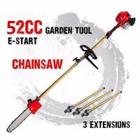 Chainsaw 3 extend 52cc Long Reach telescopic pole Petrol yard Chain Saw Pruner
