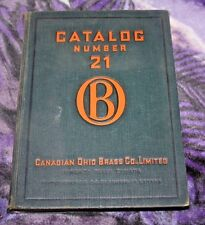 Canadian Ohio Brass Company Limited Catalog Number 21 1934 Mines Locomotives