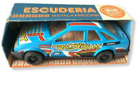 Vtg Tin Plate Toy Car Boxed Friction Escuderia Juguetes Egs Ford Sierra (8)